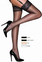 Super Shine LaceTop Gloss Stockings